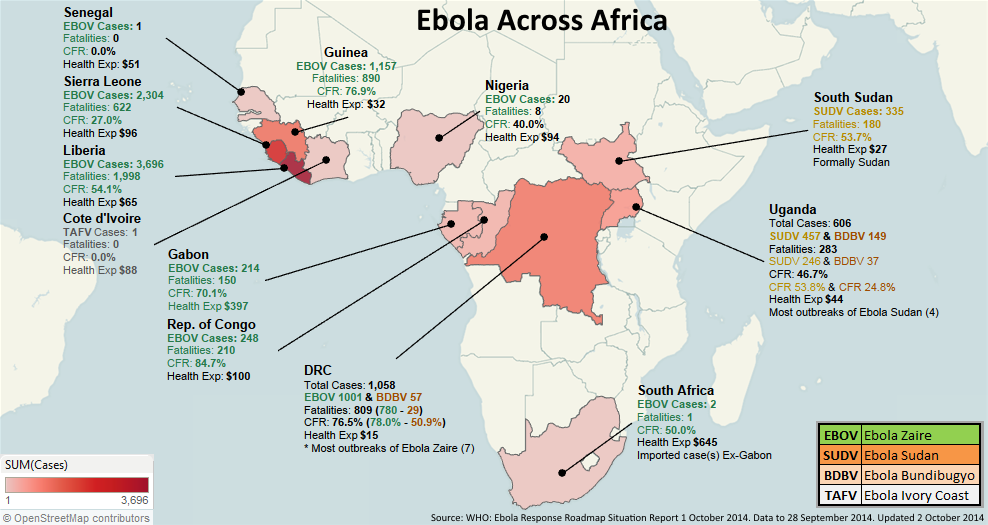 Mapping The Spread of Ebola: Collected Maps, Data 2014 – 2015 ...